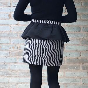 Plumpynuts RARE Skirt Mini Black White Ruffle